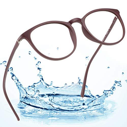 LifeArt Blue Light Blocking Computer Glasses, Transparent Lens Filter UV400,Alleviate Headache [Anti Eye Eyestrain],Stylish Reading Glasses for Women/Men (Dialogue_c1, 0.25 Magnification)]()