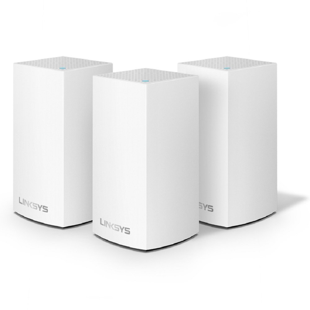 Linksys Velop Home Mesh WiFi System - WiFi Router/WiFi Extender for Whole-Home Mesh Network (3-pack, White) by Linksys