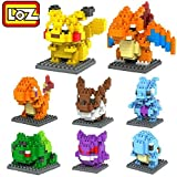 LOZ 8box Diamond Block Pikachu Squirtle Bulbasaur Eevee Charmander Charizard Gengar Mewtwo 1080pcs Parent-child Games Building Blocks Children's Educational Toys