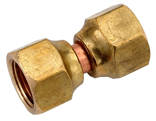 Anderson Metals 754070-06 3/8-Inch Low Lead Flare Female Swivel, Brass