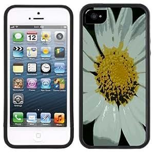 LJF phone case Daisy Flower Handmade iPhone 5C Black Case