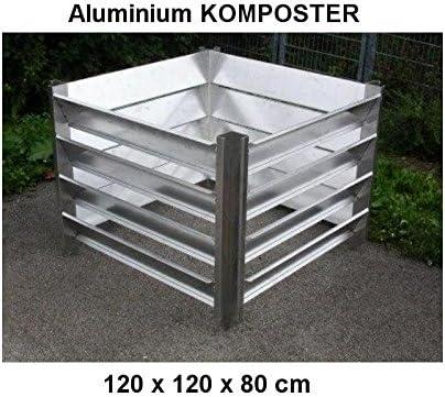 Compostador 120 x 120 x 80 (tamaño interior) de aluminio ...