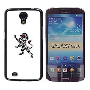 For Samsung Galaxy Mega 6.3 / I9200 / SGH-i527 Case , Ink Decal Art Clean White Black Minimalist - Diseño Patrón Teléfono Caso Cubierta Case Bumper Duro Protección Case Cover Funda