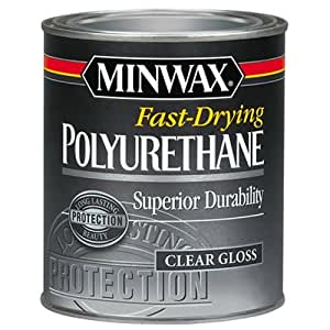 Minwax 230004444 Fast Drying Polyurethane Gloss, 1/2 pint