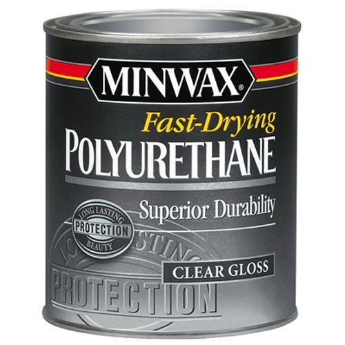 Minwax 230004444 Fast Drying Polyurethane Gloss, 1/2 pint by Minwax