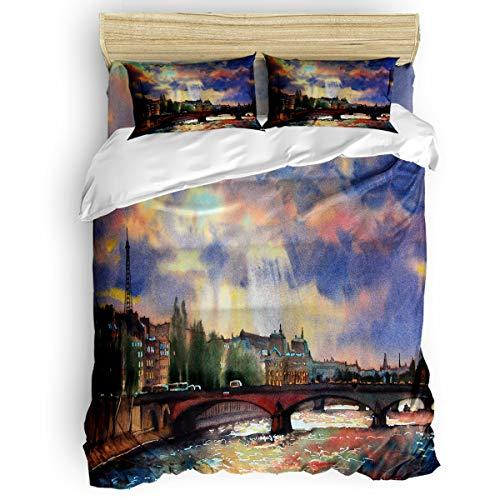 - Elfantasy Luxury Women/Men Duvet Cover Set Twill Plush Bed Sheet Sets,Alexander Bridge Kids Soft Bedding Sets,Include 1 Duvet Cover 1 Bed Sheets 2 Pillow Case Full Size