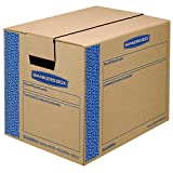 Bankers Box SmoothMove Prime Moving Boxes, Tape-Free and Fast-Fold Assembly, Small, 16 x 12 x 12 Inches, 10 Pack (0062701)