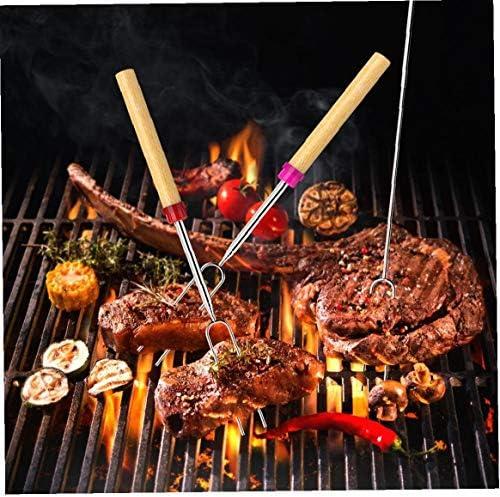 8 pièces Torréfaction Sticks Marshmallow Torréfaction Sticks 32 pouces pour barbecue Forks Extendable au Campfire