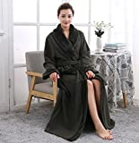 GL&G Winter Flannel Bathrobes - Men And Women Couple Models Thicker Nightgown Pajamas Hotel Bathrobes Home Clothing,A,L