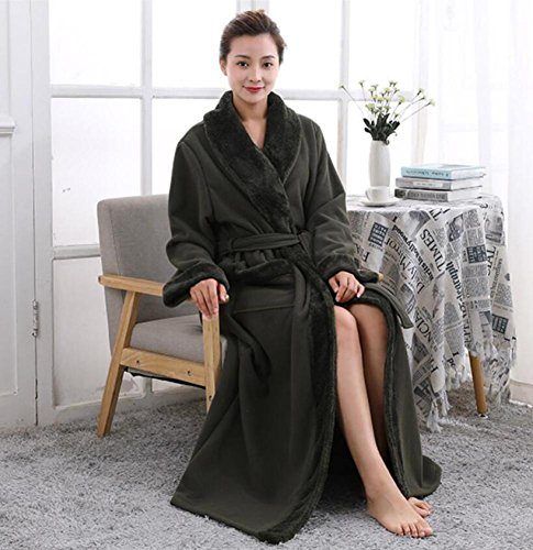 GL&G Winter Flannel Bathrobes - Men And Women Couple Models Thicker Nightgown Pajamas Hotel Bathrobes Home Clothing,A,L by GAOLIGUO