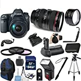 Canon EOS 6D Digital SLR Camera Body with EF 24-105mm L IS USM Lens 33rd Street Bundle with Camera Backpack + 64GB Memory Card + Deluxe Battery Grip + 26pc Accessory Kit