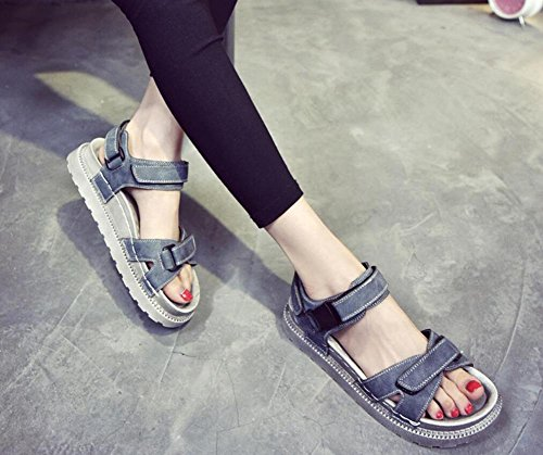 2017 zapatos salvajes de las sandalias gruesas de las nuevas sandalias del verano 1
