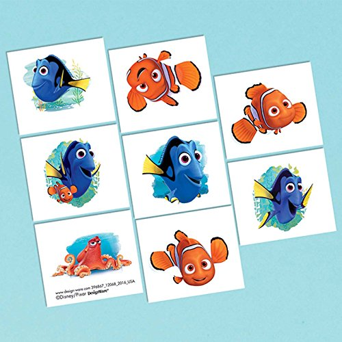 Nemo Tattoos Finding - Tattoos | Disney /Pixar Finding Dory Collection | Party Accessory