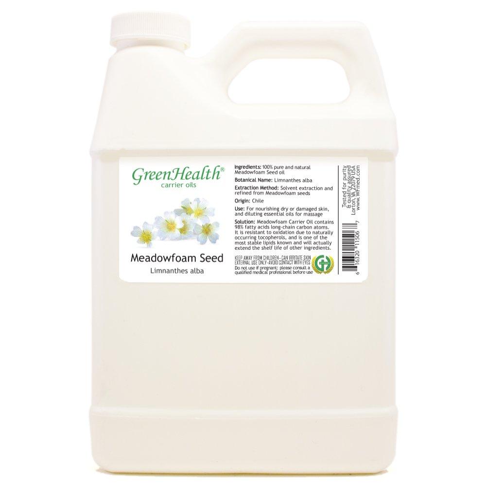 GreenHealth Meadowfoam Seed - 32 fl oz (946 ml) Plastic Jug w/Cap - 100% Pure Carrier Oil by GreenHealth