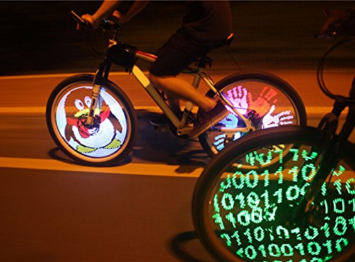 Bicycle Tire Spoke Light DIY Programmable LED Wheel Flash Light Lamp Waterproof For 26 inch Bike Wheel by Top of top store (Image #7)