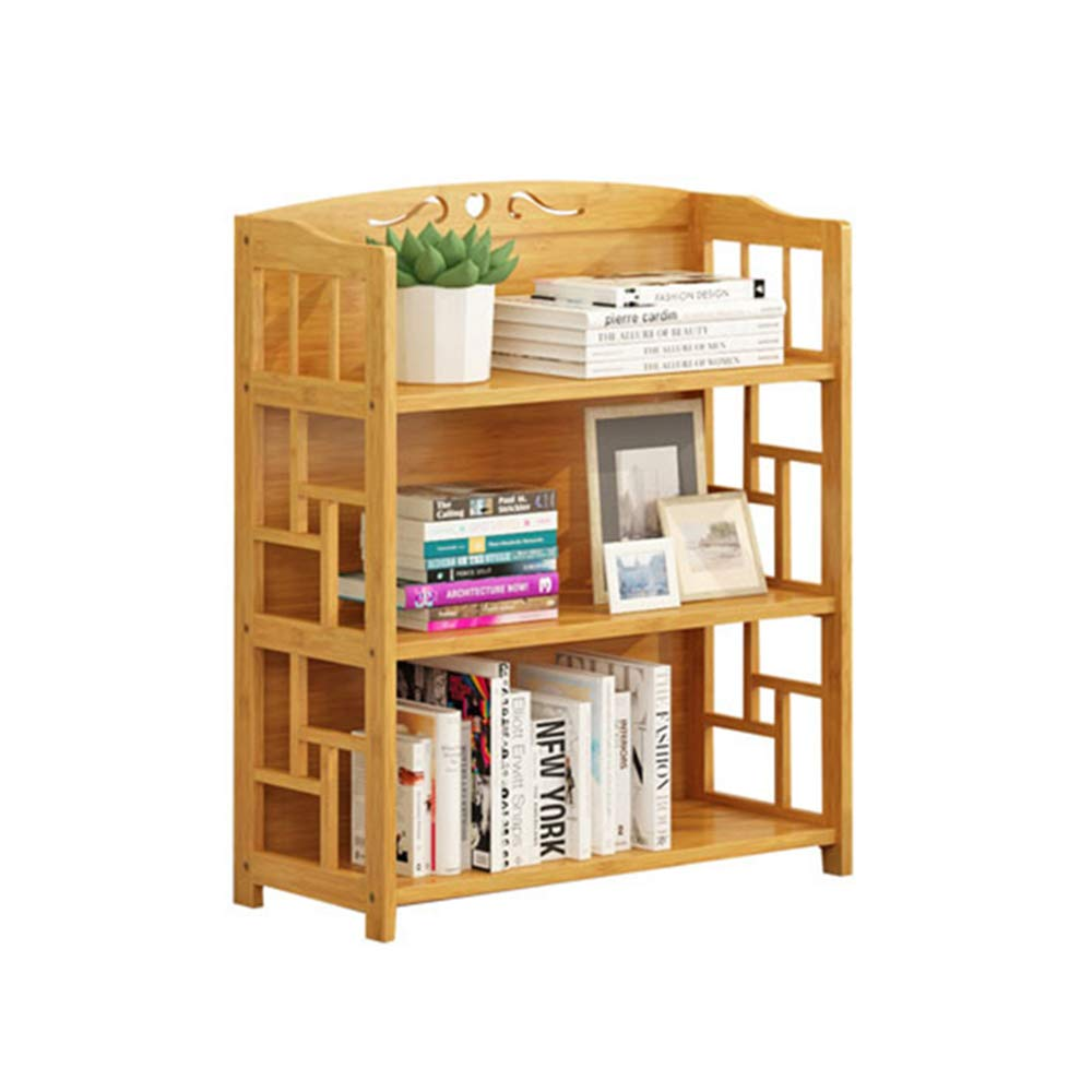 Lagerregal FEI Einfaches Bücherregal-Studenten-Einfaches Modernes Hauptbücherregal-Bambus