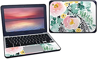 product image for Blushed Flowers Protector Skin Sticker Compatible with Asus Chromebook C202S - Ultra Thin Protective Vinyl Decal Wrap Cover