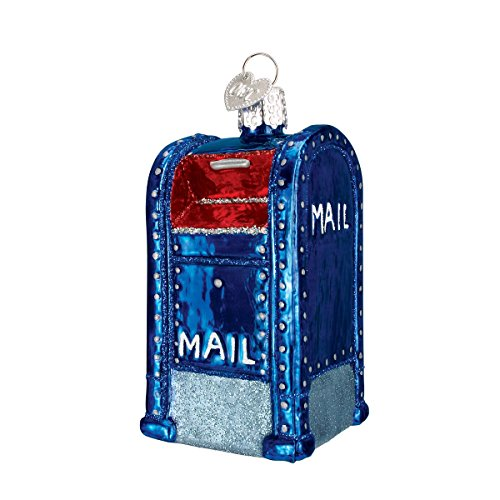 Mail Ornament - Old World Christmas Ornaments: Mail Box Glass Blown Ornaments for Christmas Tree