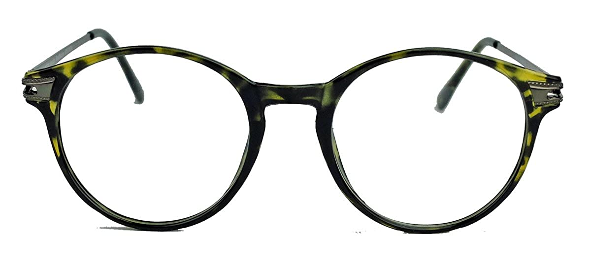 Classic Nerdbrille gro/ße runde Pantobrille Streberbrille schwarz clear lens Damen Herren