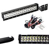 2013 ford raptor accessories - iJDMTOY Lower Bumper LED Light Bar Kit For 2009-14 Ford F-150 or Raptor, Includes (1) High Power Double Row LED Light Bar, Lower Bumper Mounting Brackets & Wiring Switch (No Cutting or Drilling)