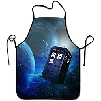 Lily's Rossne Aprons for Men and Women, Fashion Doctor Who Cooking Bib Apron and Chef Kitchen Cooking