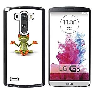 Impact Case Cover with Art Pattern Designs FOR LG G3 Yogi Yoga Meditating Frog Minimalist Betty shop