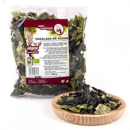 algas para ensalada 100 gr (alga nori, wakame, lechuga de mar)
