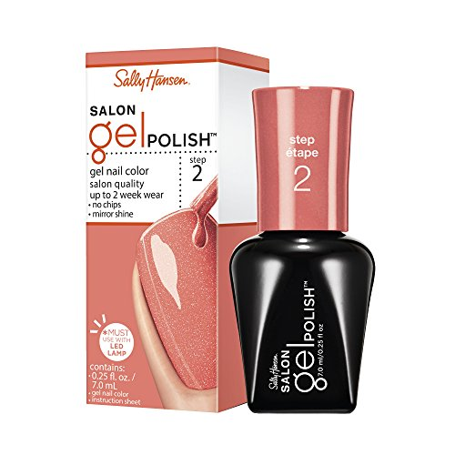 Sally Hansen Salon Gel Nail Polish, Just Peachy, 0.25 Fluid