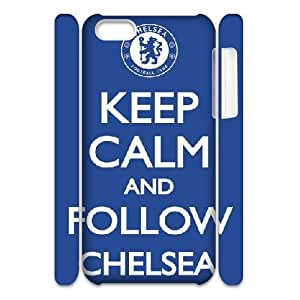 3D Yearinspace Chelsea Fc iPhone 5C Case Chelsea Fc Keep Calam And Follow Chelsea Blue For Boys, Iphone 5c Cases For Girls, {White}