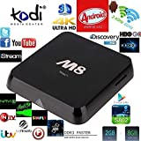 Susay(TM) M8 Quad Core Android 4.4 Smart Set Top TV Box XBMC 3D Blu-ray 4K Streaming Media Player Miracast DLNA Receiver Amlogic S802 AML8726-M8 Cortex A9@ 2GHz 2GB Ram 8GB Rom Mali450 GPU 4K HDMI 2.4G/5G Dual WiFi Ultra HD Mini PC