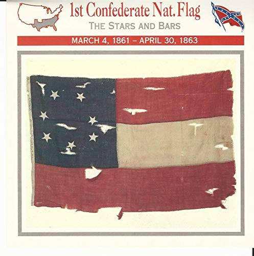 1995 Atlas, Civil War Cards, 32.13A 1st Confederate National Flag
