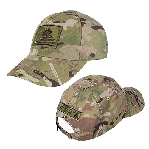 Camo Full Back Cap - MULTICAM Operator Cap Bundles - MULTICAM California + Dont Tread On Me