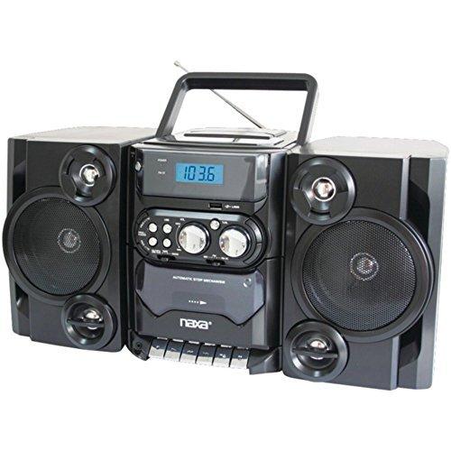 NAXA NPB428 Portable CD Player Boombox AM/FM Radio USB & Aux-Inputs 110V/220V Electronic Accessories by Naxa Electronics