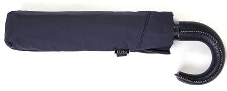 Paraguas Topless Plegable puño de Poli Piel. Paraguas Vogue Azul Marino