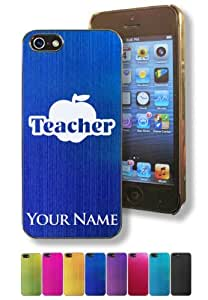 Apple Iphone 5/5S Case/Cover - TEACHER - Personalized for FREE (Click the CONTACT SELLER button after purchase and send a message with your case color and engraving request)