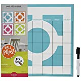 Wall Pops WPE96842 Dry Erase Peel & Stick Dry-Erase Calendar Set, Chroma by Brewster