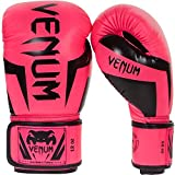 Venum Elite Boxing Gloves, Pink, 12 oz