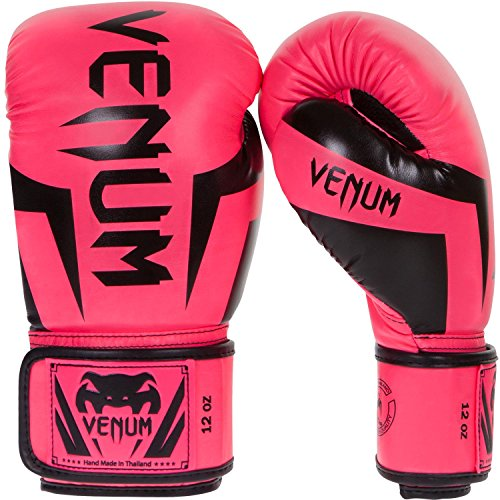 Venum Elite Boxing Gloves, Pink, 16 oz ()