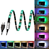 Bias Lighting for HDTV USB Powered TV Backlighting Home Theater Accent lighting, Kohree Led Strip Light Multi Color RGB (Reduce eye fatigue and increase image clarity)