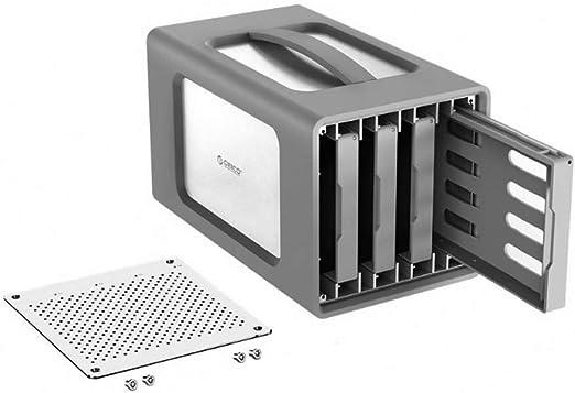 AOEIUV Caja de Disco Duro Tipo C de 4 bahías con Raid Estación de Acoplamiento de 3,5 Pulgadas Cubierta de Silicona USB3.1 40TB Funda de Aluminio 12V6.5A: Amazon.es: Hogar