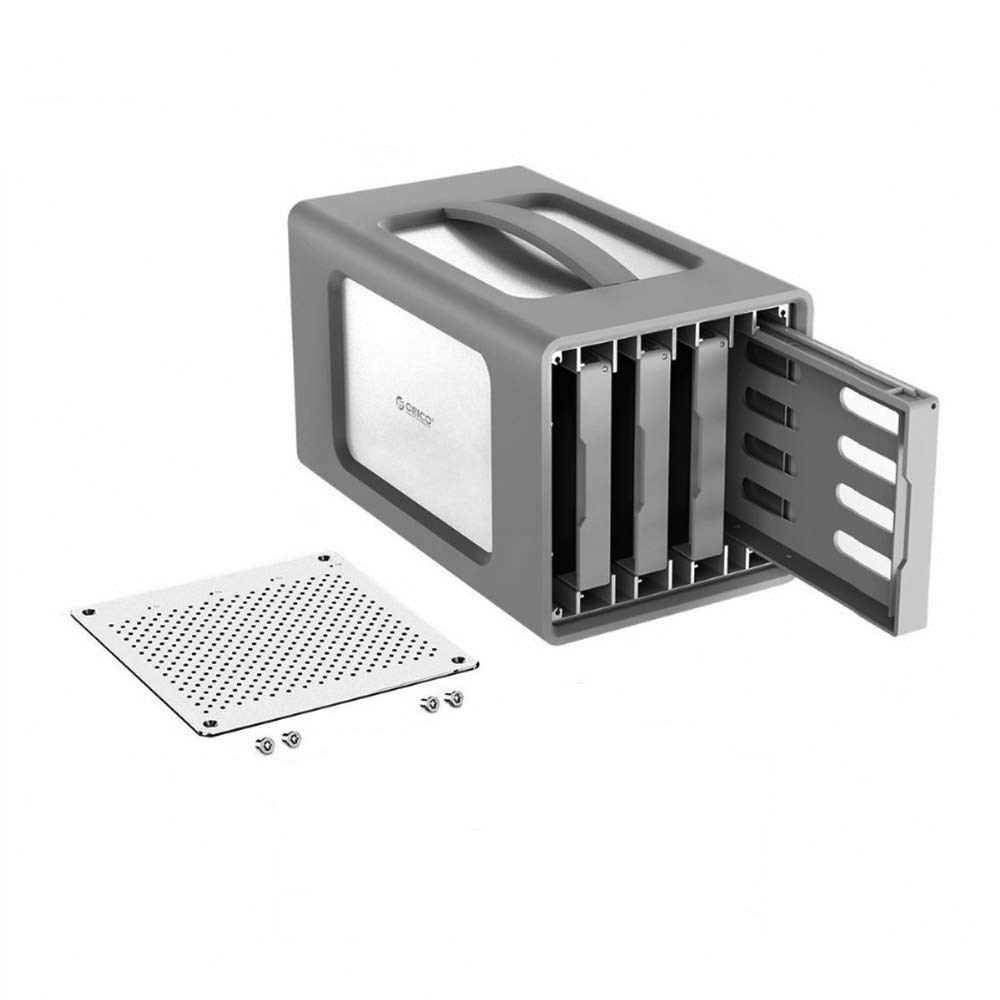 PINCHU Type-C 4-Bay Hard Drive Enclosure with Raid 3.5 inch Docking Station USB3.1 Silicone Cover 40TB Aluminum 12V6.5A Case
