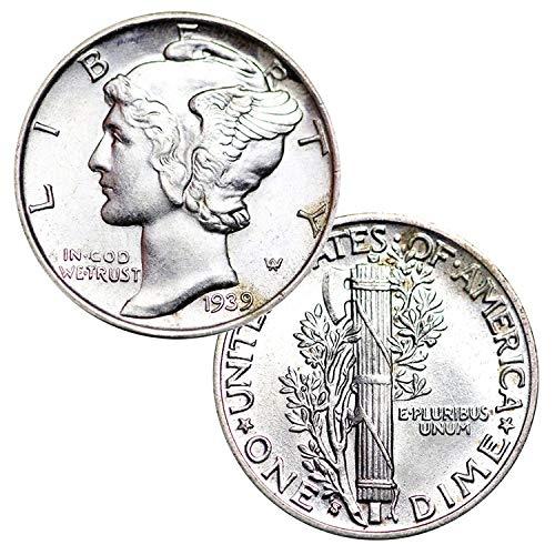 90% Silver Mercury Mixed Date 1916-1945 Brilliant Dime BU
