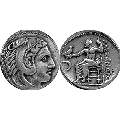 Golden Artifacts Alexander The Great, 2 Famous, Different Greek Coins of Alexander, Unique Gift, Greek Mythology (1+ 34-S): Toys & Games