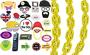 Amazon com: 90s Party Photo Booth Props Giant Gold Balloon