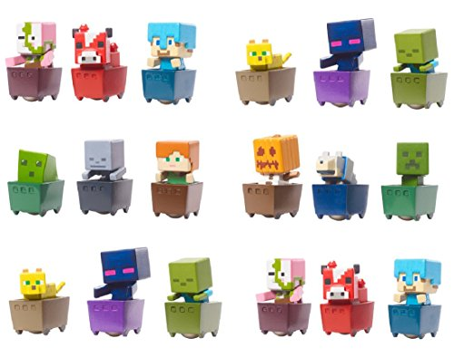 Minecraft-Mini-Figure-18-Pack-Rolling-Minecraft-Carts-CAKE-TOPPERS