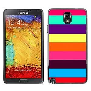 Paccase / SLIM PC / Aliminium Casa Carcasa Funda Case Cover - Colorful Summer Stripes Beach - Samsung Note 3 N9000 N9002 N9005