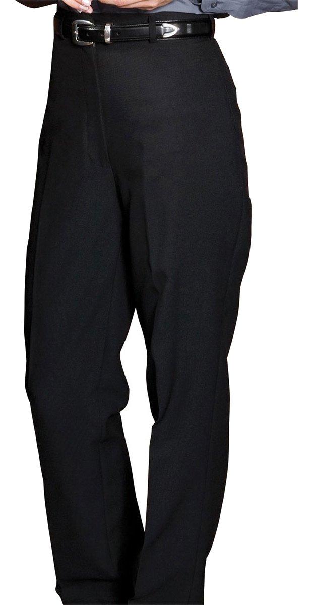 Edwards Garment Straight Leg Flat Front Casino Pant, Black, 12 Ul