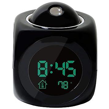 Reloj de proyección multifunción Reloj para automóvil LCD digital ...