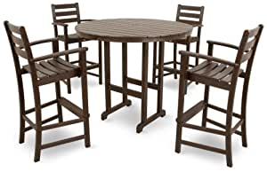 Trex Outdoor Furniture TXS119 1 VL Monterey Bay 5 Piece Bar Set