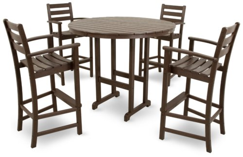 Trex Outdoor Furniture TXS119-1-VL Monterey Bay 5-Piece Bar Set, Vintage Lantern Review